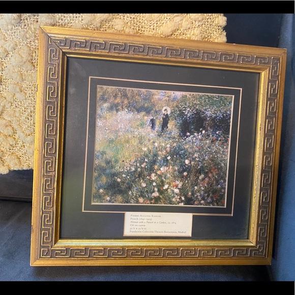 Renoir Woman with a Parasol framed art